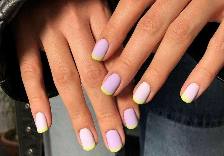 french manicure smalto giallo unghie gel 2021 chiare