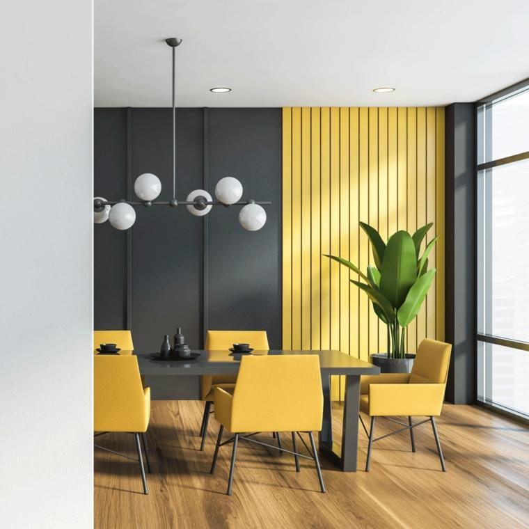 qual è il colore più luminoso muro dipinto di grigio boiseri in sala da pranzo