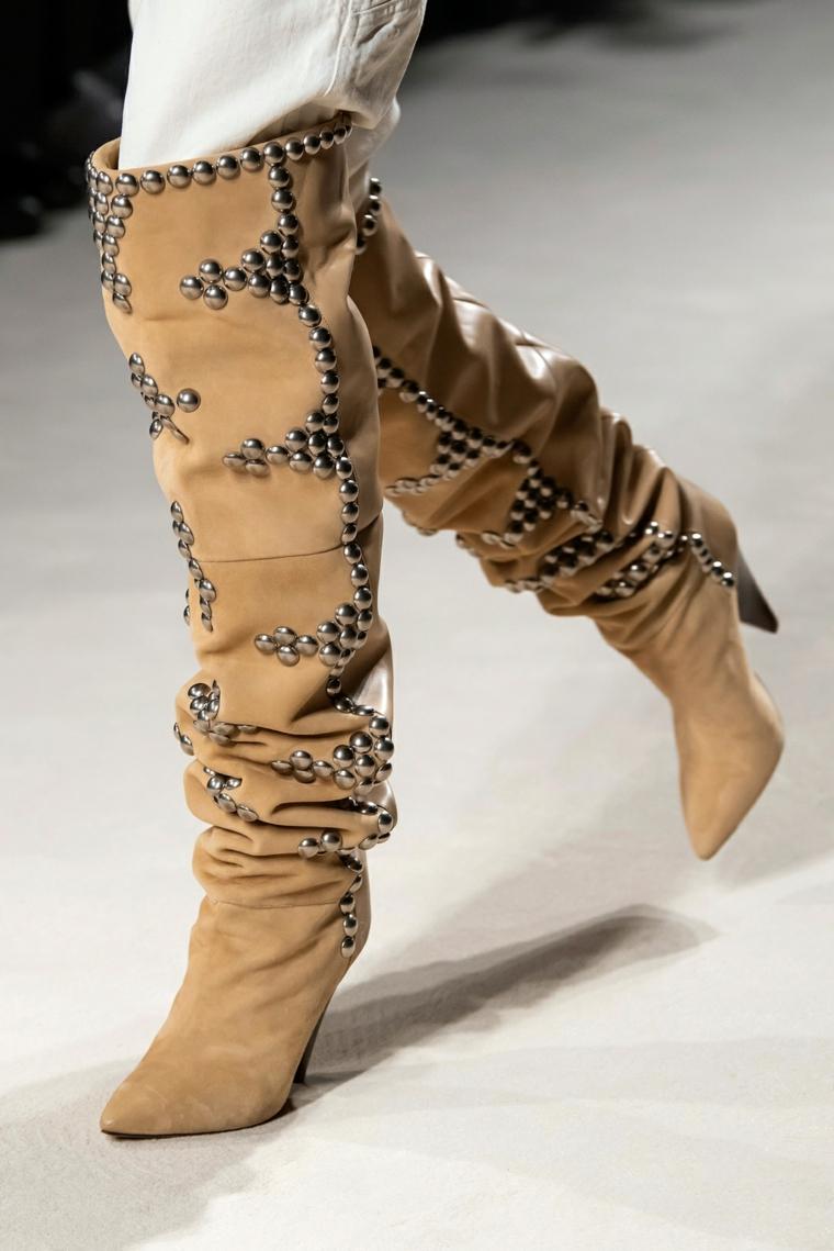 stivali in camoscio di isabel marant scarpe autunno inverno 2021