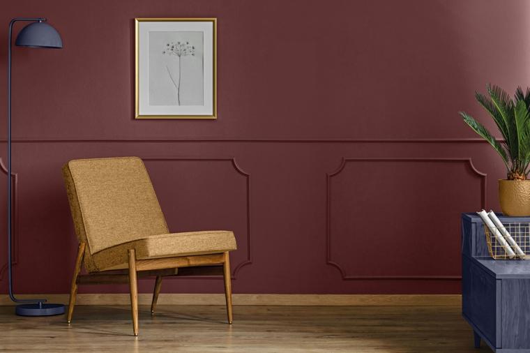 dark black gray wall with chair paintzen