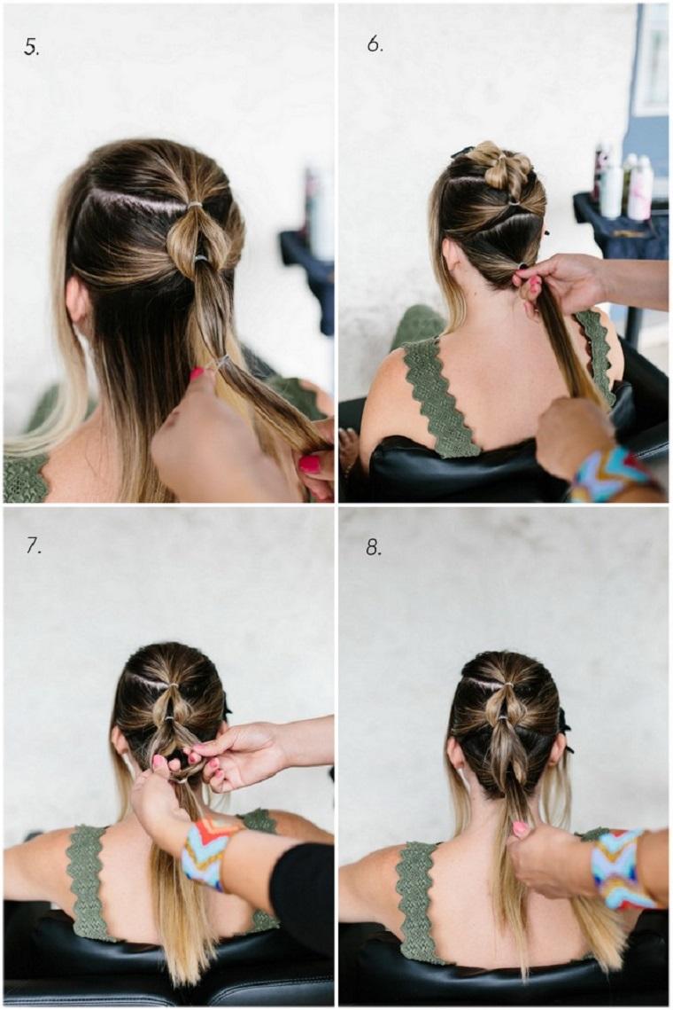 tutorial per fare treccia acconciature capelli lunghi facili e veloci