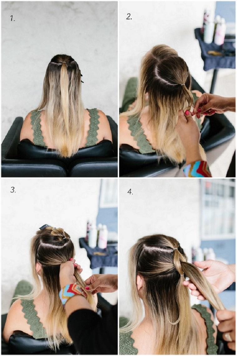 tutorial per fare una treccia acconciature semplici capelli media lunghezza