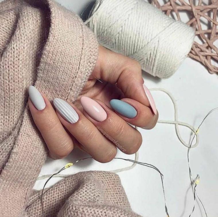 unghie gel primavera 2021 smalto colore pastello rosa pallido