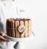 charlotte di tiramisù torte leggere per compleanno decorazione con savoiardi
