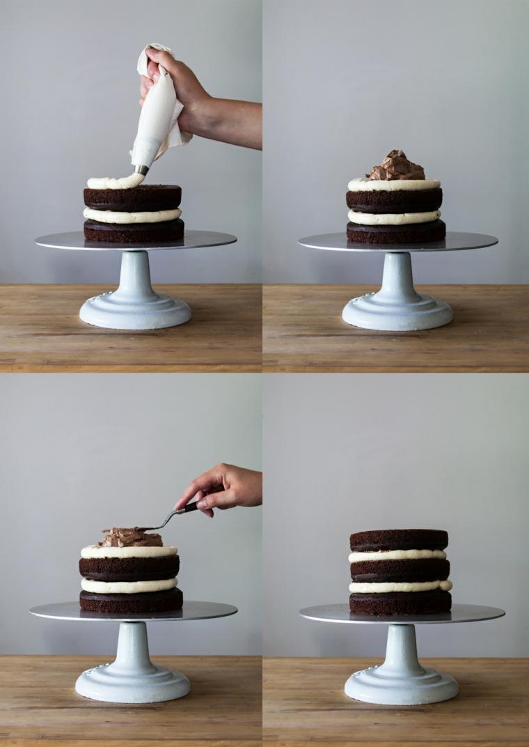 come rendere liscia la panna sulla torta decorazione con sac a poche