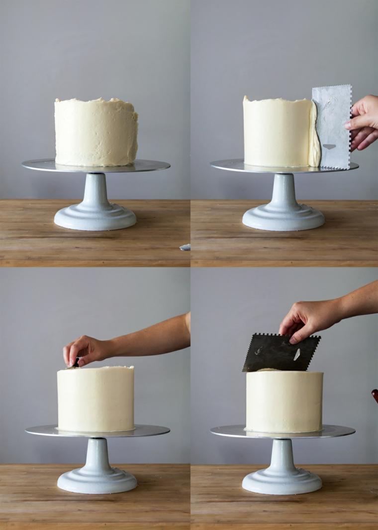 come rendere liscia la panna sulla torta tutorial con spatola da pasticceria