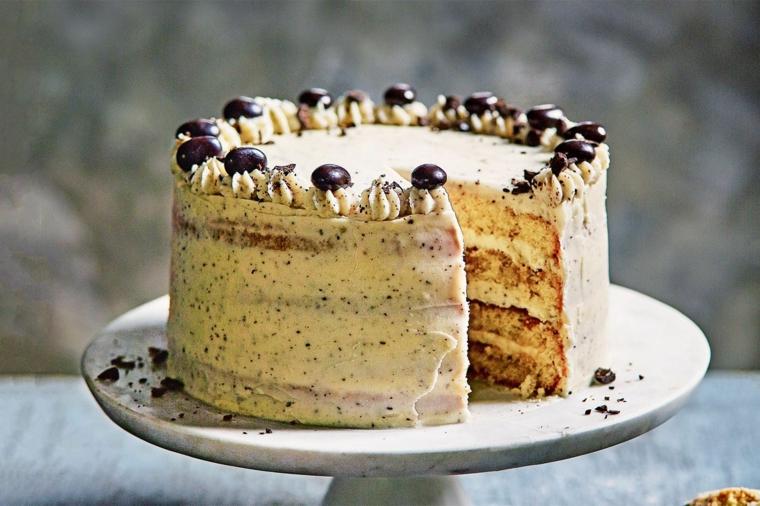 dolce con savoiardi e mascarpone torta con pezzettini di cioccolato