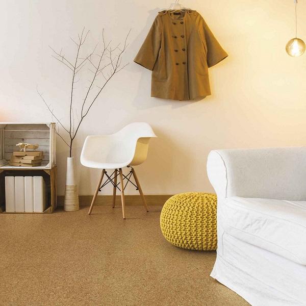pavimento in sughero di colore marrone rivestimenti alternativi bricoflor