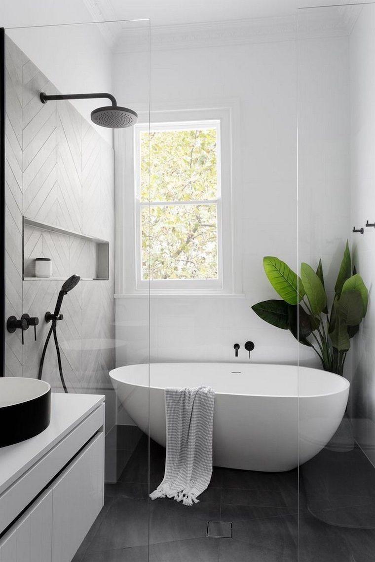 bagni piccoli bellissimi arredamento con vasca freestanding mobile lavabo sospeso