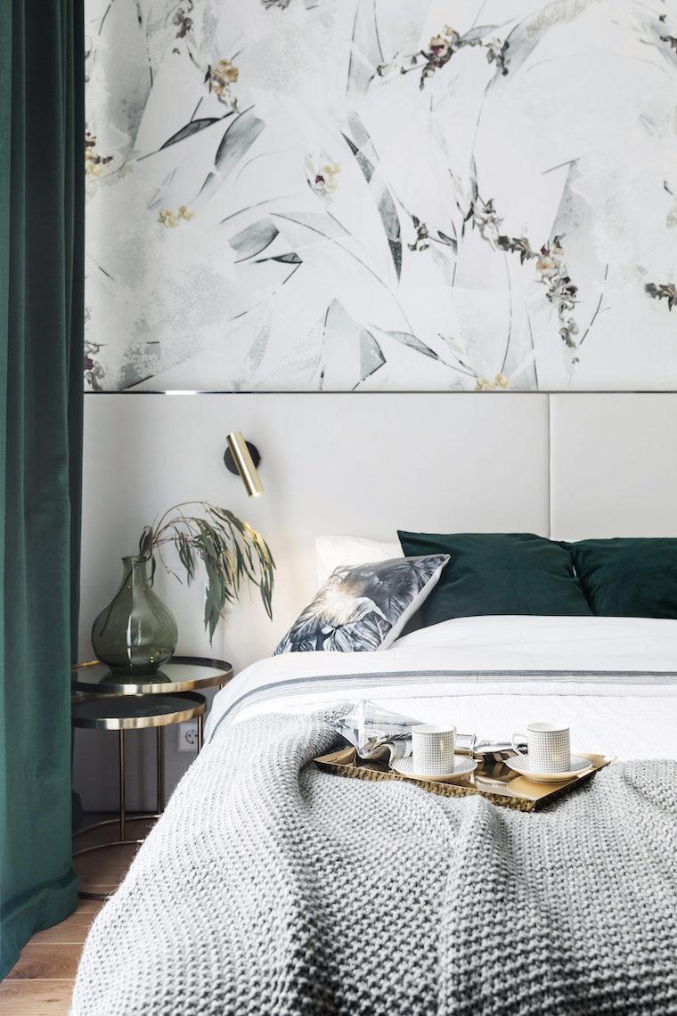 colori rilassanti per camere da lett parete con carta da parati