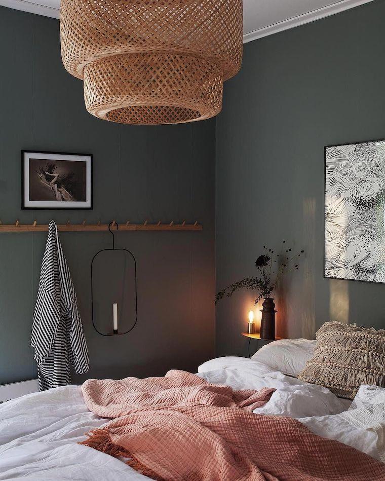 colori rilassanti per camere da letto pareti dipinte di color verde