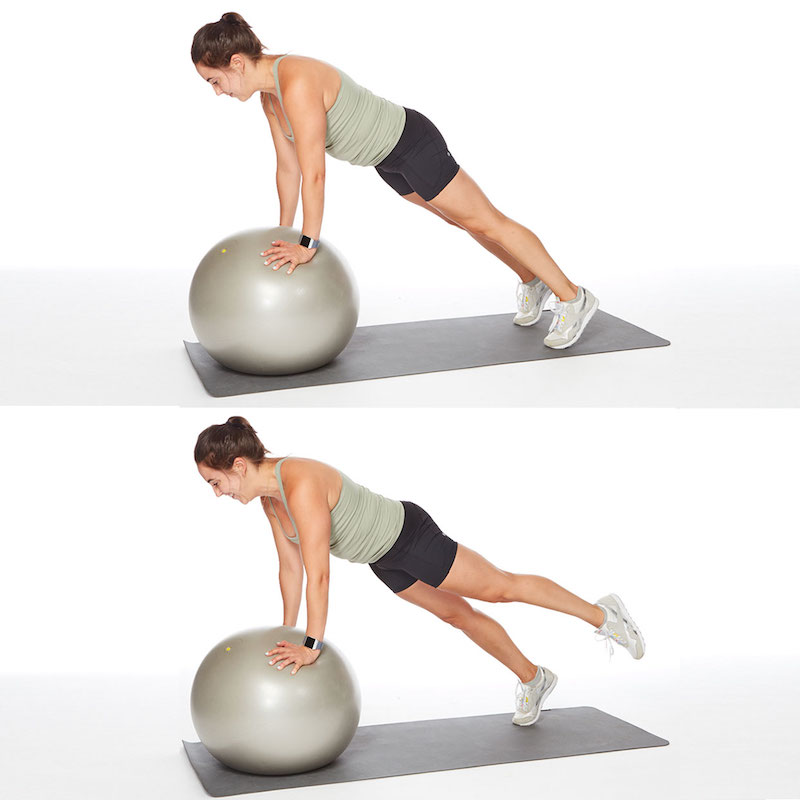 esercizi con palla brucciare grasso dalla pancia