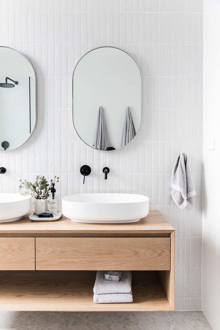 mobile con doppio lavabo come arredare un bagno piccolo