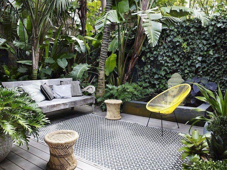 piante perenni da giardino decorazione patio stile zen