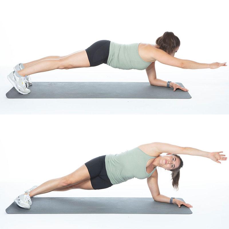 plank laterale esercizi per la pancia