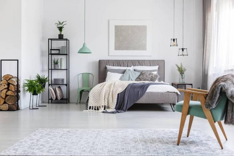 quali sono colori riposanti camera da letto dipinta di colore bianco