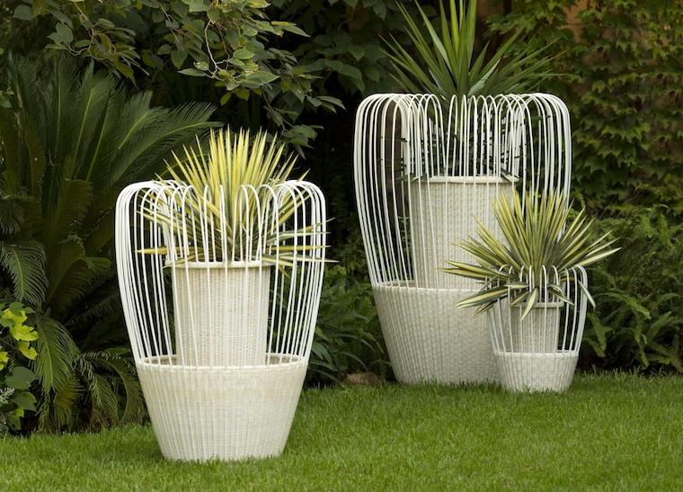vasi da esterno n metallo piante da giardino perenni