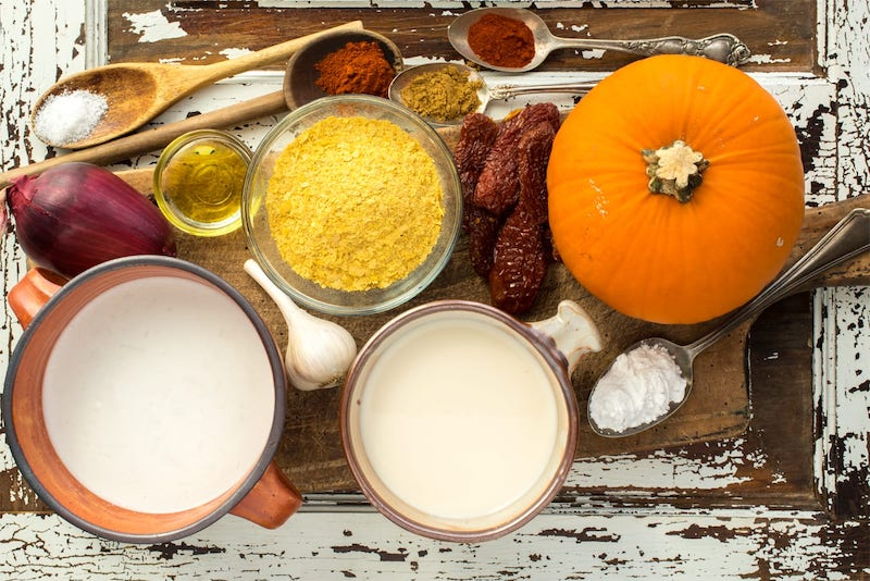 ingredienti per crema di zucca