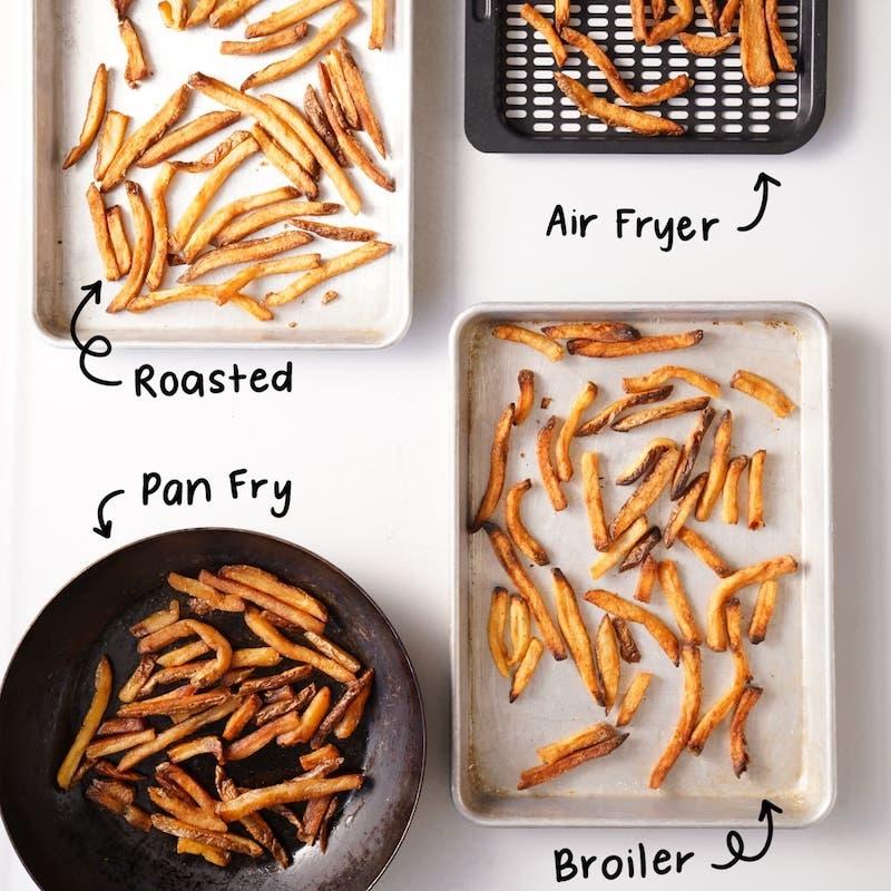 modi per preparare le patatine