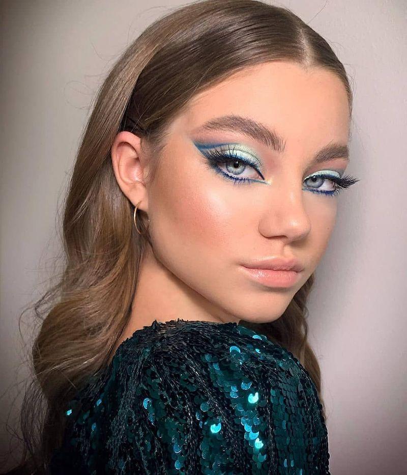 ombretto azzurro come mettere l eyeliner in base alla forma dell occhio