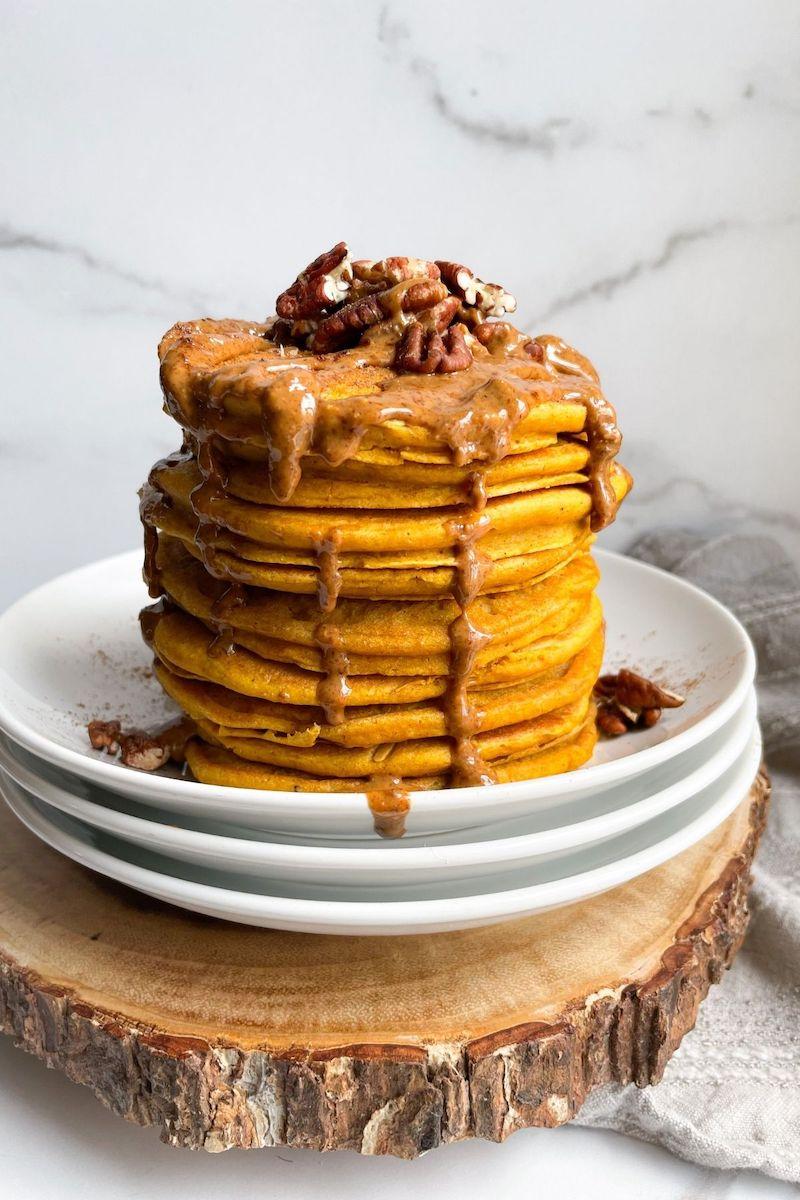 pancakes con noci ricette con zucca