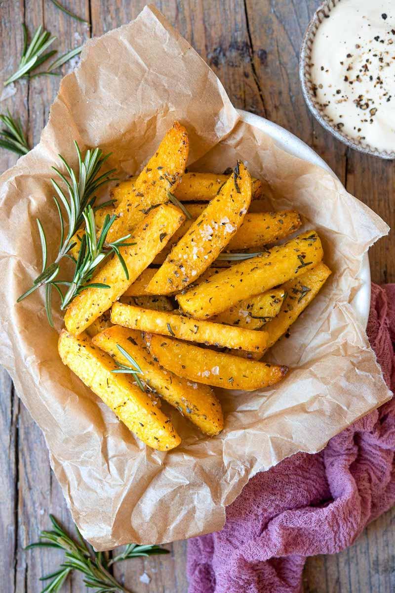 patatine di polenta con rosmarino