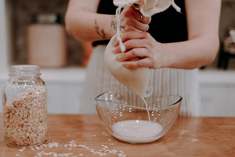 preparazione latte di avena