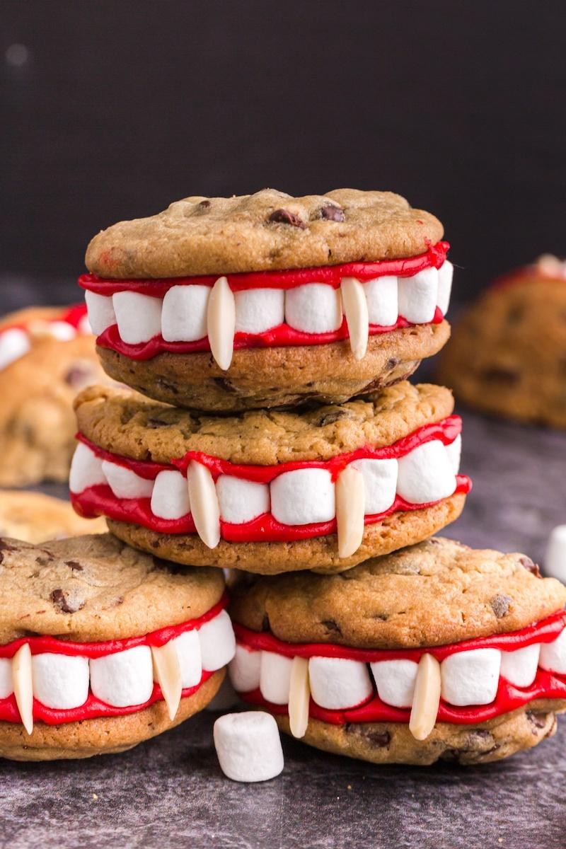 biscotti con marshamallow per halloween