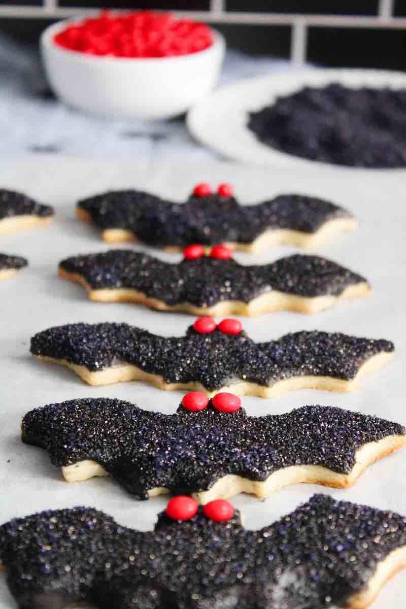 biscotti per halloween pipistrello