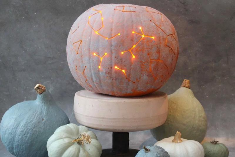 disegno costellazione zucca di halloween