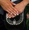unghie neutre decorazione smalto nero